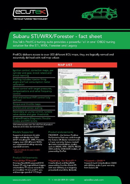 EcuTek - ProEcu Subaru CAN - Includes license and remote tune | Trade Me