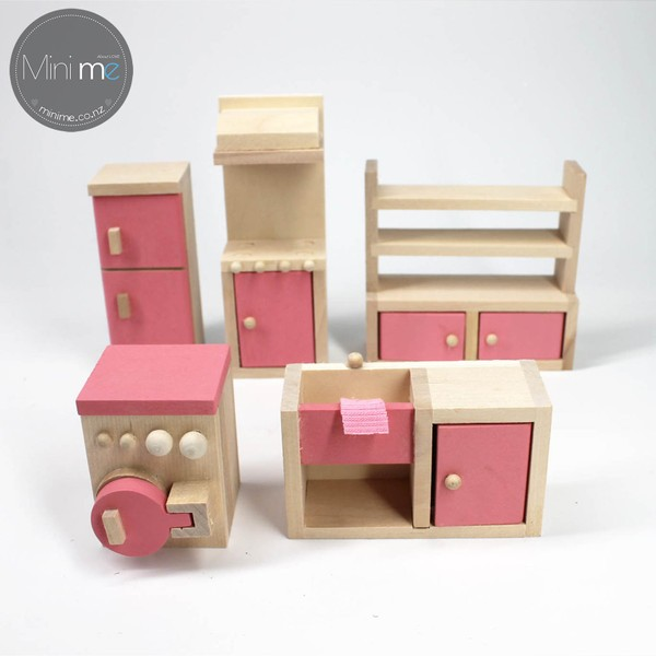 Wooden Doll House Furniture Set Kitchen Trade Me