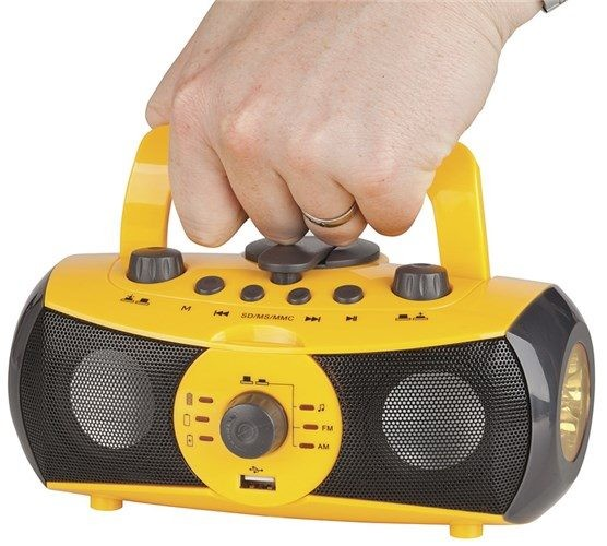 Emergency Dynamo Multifunction Torch/Music Player/Radio/Phone Charger/USB  etc