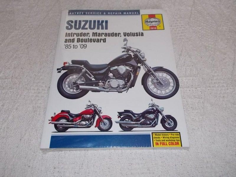 suzuki intruder, marauder, volusia & boulevard 1985-2009 haynes repair  manual | trade me