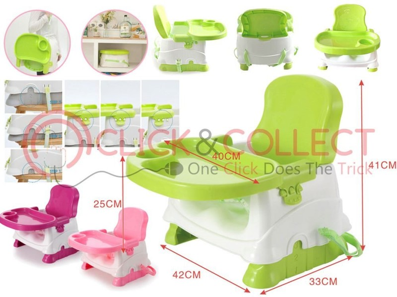 Travel Booster Seat With Tray Folding Portable High Chair For Baby