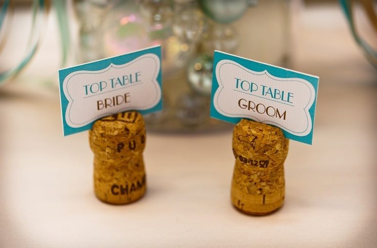 Make Name Card Holders With Sparkling Wine Corks X 60