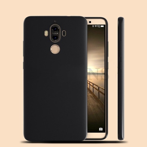Huawei mate 9 case gel ultra thin black matte finish camera protection