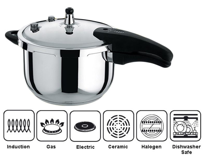 7d451102b PRESSURE COOKER 3L HIGH QUALITY STAINLESS STEEL