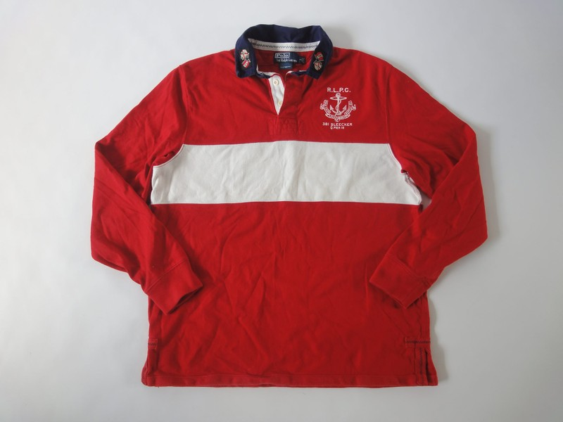 1139f12c7 Ralph Lauren Polo Bleecker Rugby Shirt. Large Custom Fit