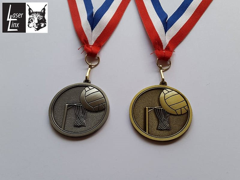 Netball Medals - ENGRAVED High Relief