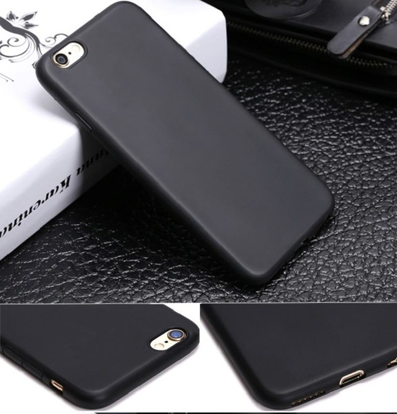 the best attitude d2b91 b25ce Iphone 6 6s case gel ultra thin black w raised edge for camera protection