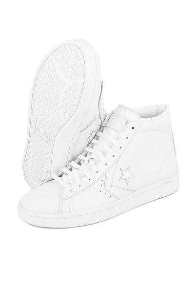 Converse Pro Leather  76 HI White on white  d7e3ccf7f754