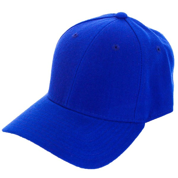 Fitted Blank Baseball Hat Royal Blue  2f6116556473