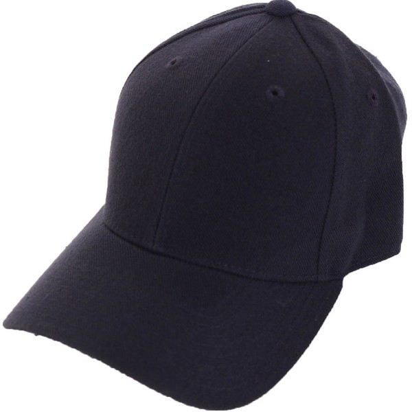 Fitted Blank Baseball Hat Navy Blue 7 3 8  60098c0a783b
