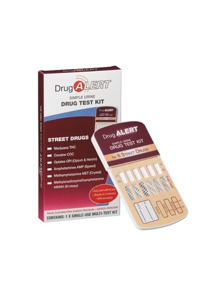 Drug Alert Drug Test Kit for 6 street Drugs 5 Tests