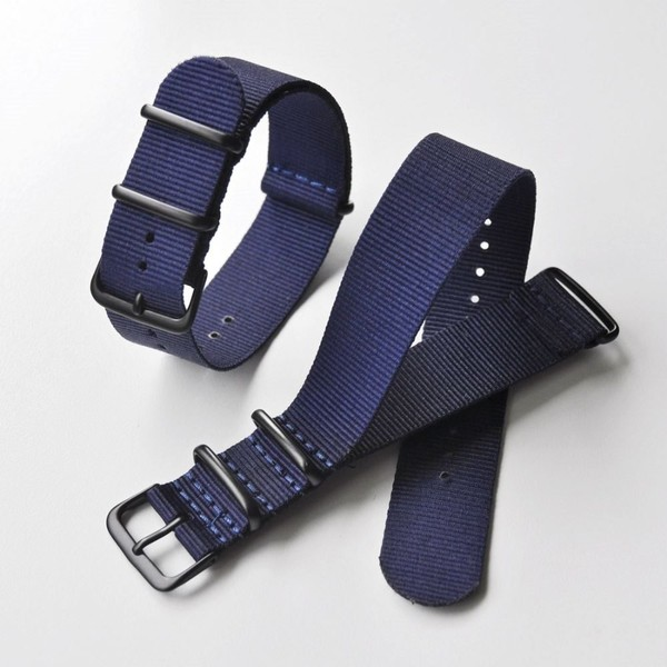 22mm Royal Blue NATO strap with BLACK buckle  bf353ac7eb94