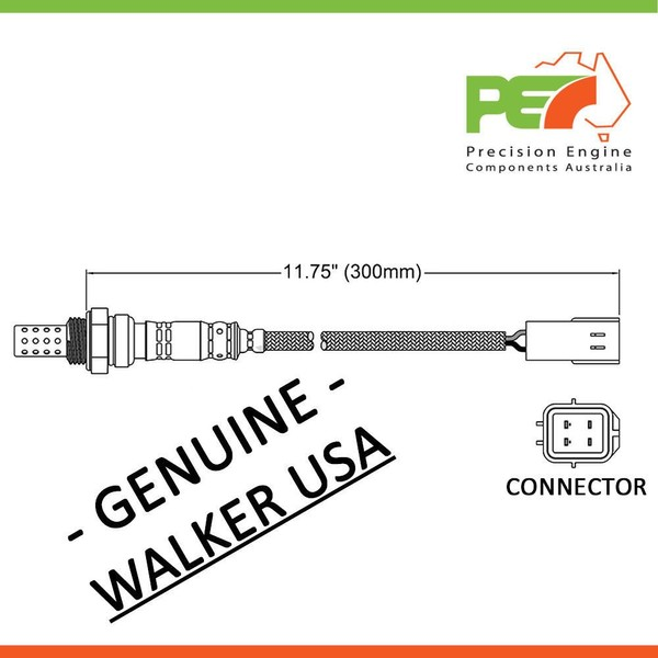 Walker Usa Oxygen Sensor O2 For Mazda Mpv E2000 Lw Ge 30l 20l: Mazda E2000 Wiring Diagram At Jornalmilenio.com