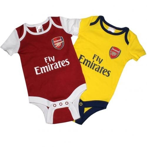 sports shoes 3766c ab41e ARSENAL BABIES ROMPER SUITS 6-9 MONTHS (TWO), NEW