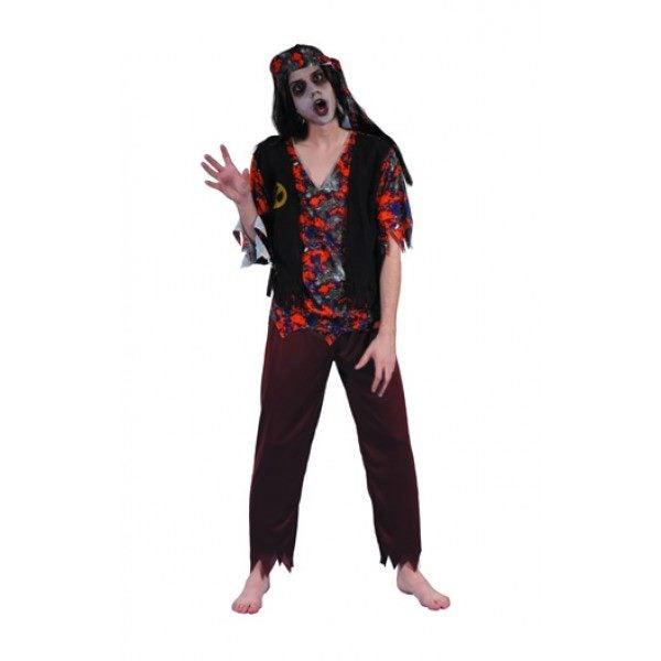 Costume Halloween Man.Zombies 60s 70s Hippie Man Halloween Fancy Dress Costume