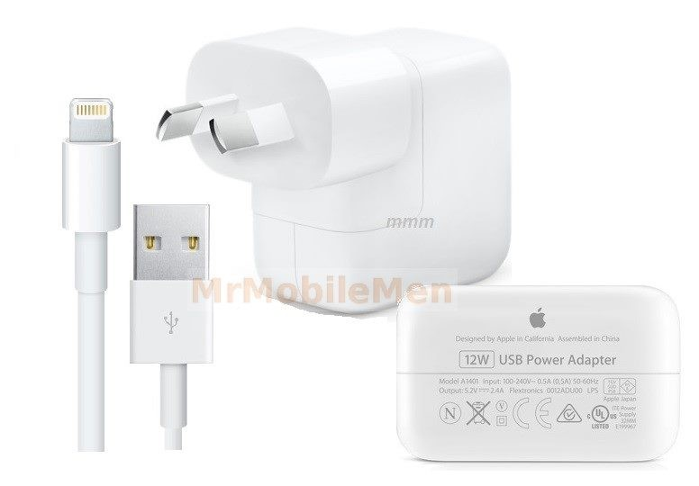buy online 00b88 01a64 12W Apple Wall Charger Genuine & Lightning Cable ios12.0 iphone x 8 8+ ipad  air