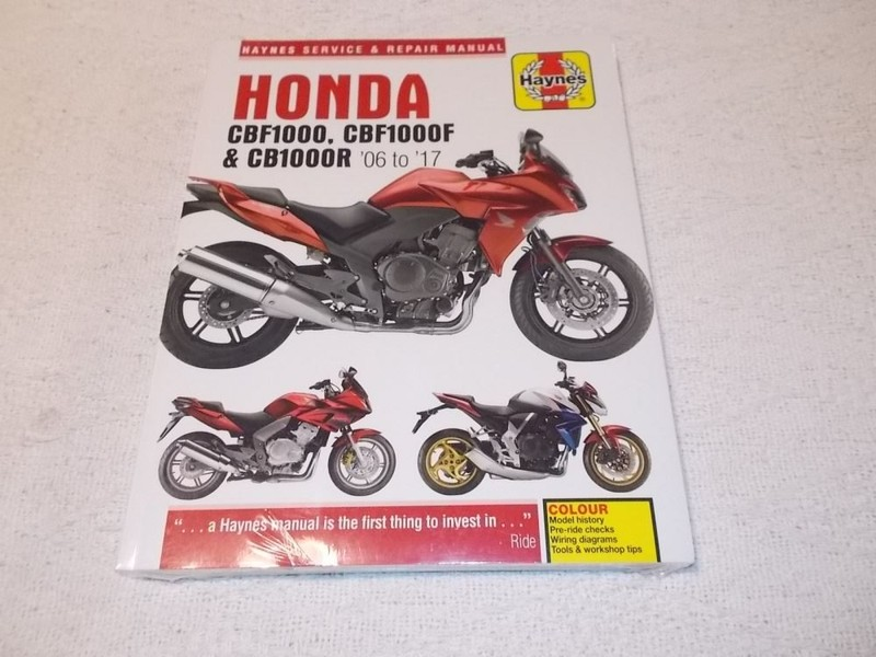 Honda Cbf1000 Cbf1000f Cb1000r 06 17 Haynes Manual Trade Me