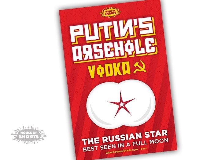 3d81c1ba9 Funny Vodka Label Sticker - Putins Arsehole Vodka - House of Sharts | Trade  Me