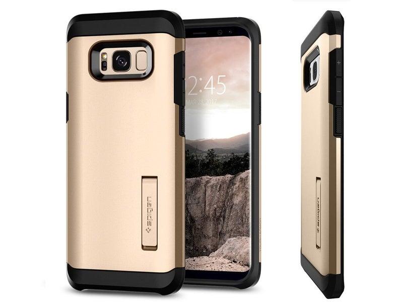 sports shoes c72d8 2e82b Galaxy S8 Plus Case Spigen Tough Armor Gold Maple