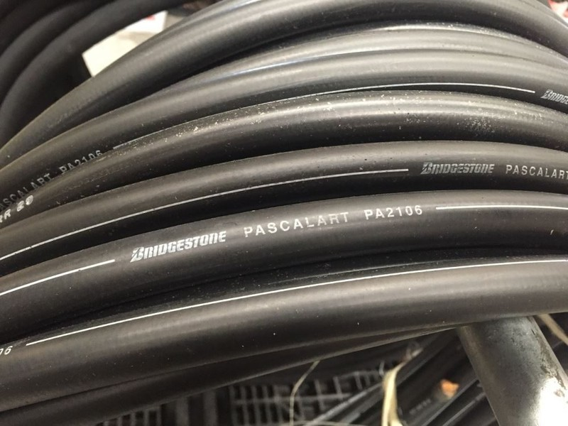 Click to enlarge photo & Hydraulic Hose - 2 Wire Braid Hose 3/8
