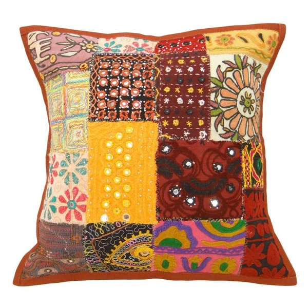 Sofa Cushion Covers Multicolor Kutch Indian Decorative Pillows
