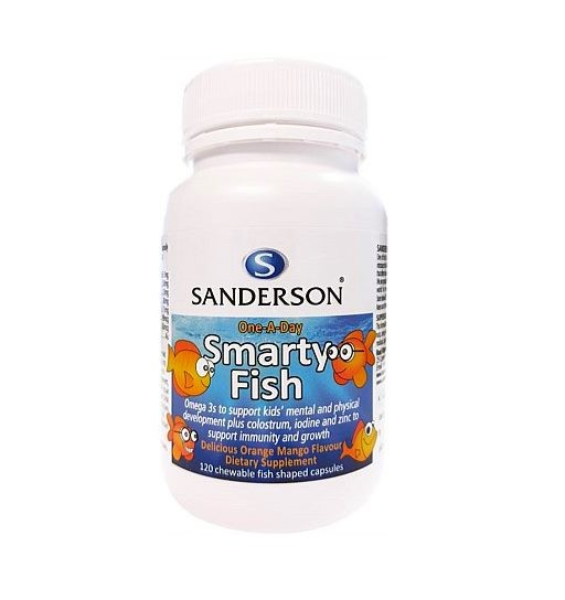 Sanderson One-A-Day Smarty Fish - 120 Chewable Fish Shaped Capsules