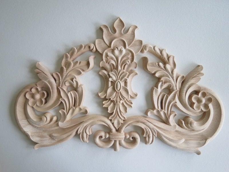 Large centrepiece wood carved appliqué trade me