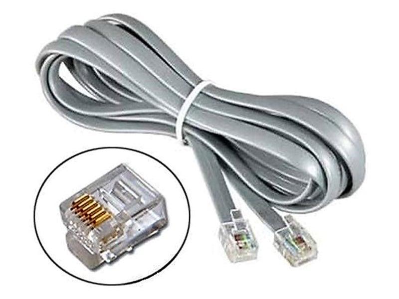 5 Meter RJ11 to RJ11 cable cord 6P6C 6 pin 6 core 5M RJ-11 flat lead ...
