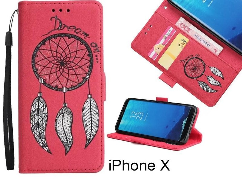 new product 5c4c6 fd701 iPhone X case Dream Cather Leather Wallet cover case