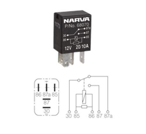 NARVA RELAY MICRO 24V 5 PIN 10/5AMP | Trade Me on