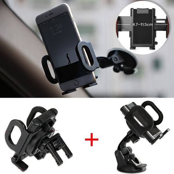 quality design ace64 e5baf Universal Car Windshield Air Vent Mount Holder For iPhone X iPhone 8 7 6 6S  5S 5