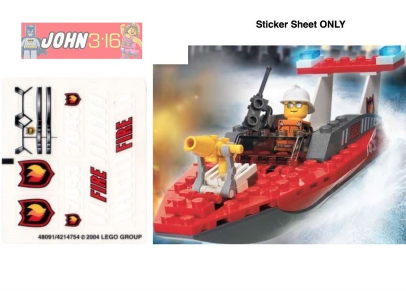 LEGO CITY STICKERS for set #7043 FIREFIGHTER   Trade Me