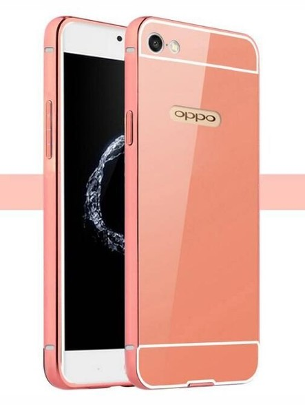 competitive price d9384 77d16 Oppo A39 case Slim Metal bumper with mirror back cover case