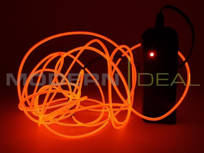 M battery powered glow neon el wire red trade me