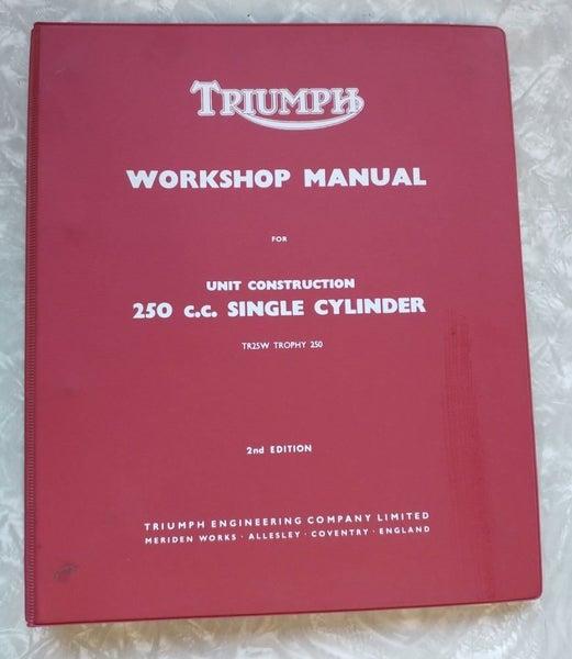workshop manual triumph tr25w trophy 250 1968 to 1970 trade me 1969 Triumph