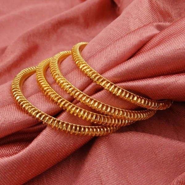 18K Goldplated Ethnic Traditional Bridal Indian Bangles Bracelets Jewelry  2*10