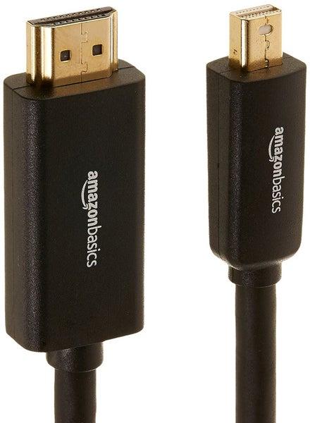 AmazonBasics Mini DisplayPort to HDMI Cable - 1 83 Meters-USA Import