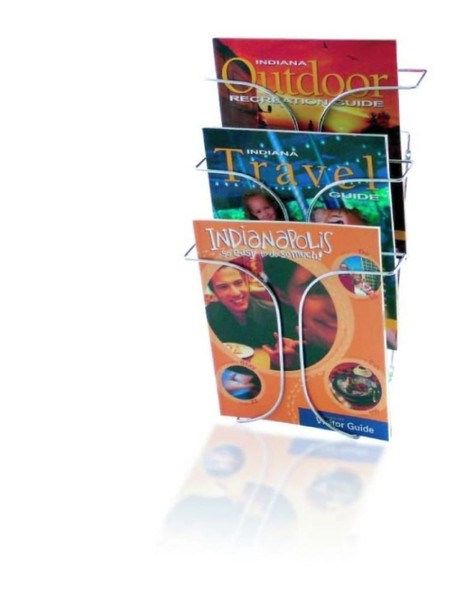 Wire Brochure Magazine Display Wall Mount 3 X A4 Trade Me
