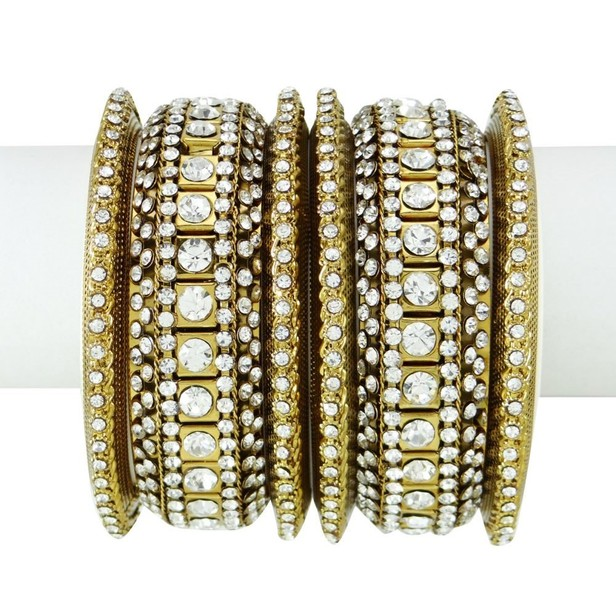 Bridal & Wedding Party Jewelry Traditional Indian Bangles Set Ethnic Kada Bracelets Wedding Jewellery 2*10 Jewelry & Watches