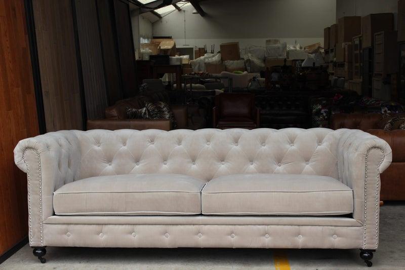 Admirable Tnc Chesterfield Velvet 3 Seater Sofa Champagne Beige Pdpeps Interior Chair Design Pdpepsorg