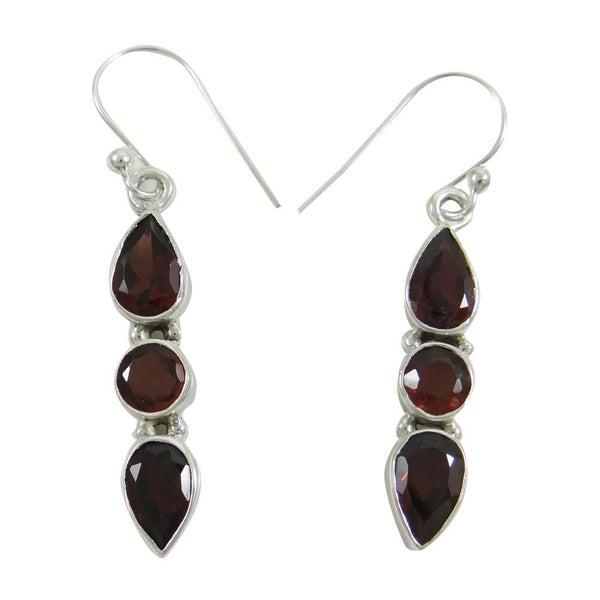 a2b4d508bd Indian 925 Sterling Silver Women Dangle Earring Garnet Buy Online Jewelry |  Trade Me