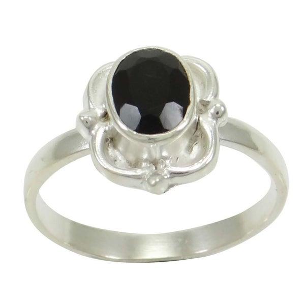 407e7a4b13 Sterling Silver Black Onyx Gemstone Fashion Jewellery Buy Online Rings Size  7.5 | Trade Me