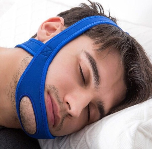 New Neoprene Anti Snore Stop Snoring Chin Strap Belt Anti Apnea Jaw Solution