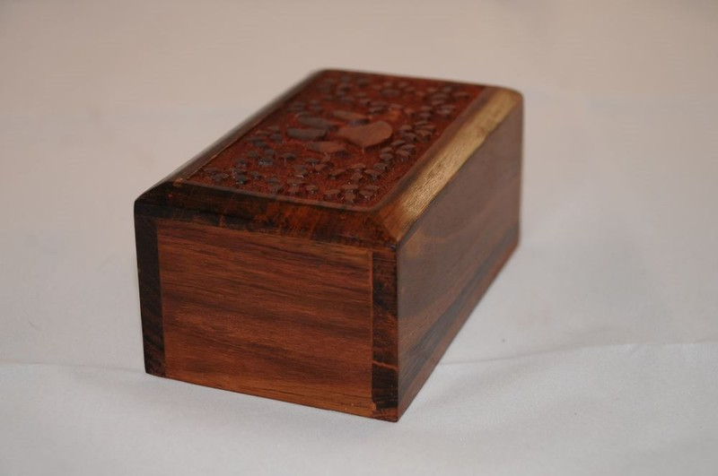 Carved Wooden Box (small)