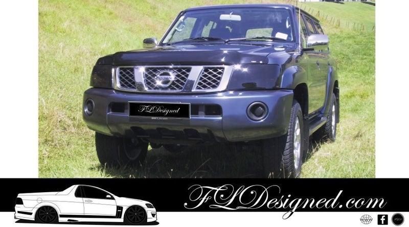 2005-2010 Nissan Patrol GU Y61 Black Out Dark Tint Headlight