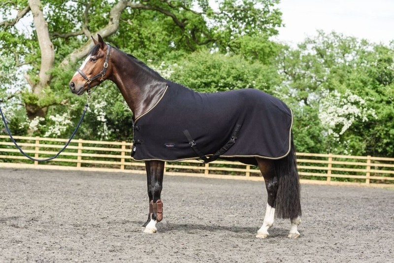 White Horse Equestrian Dash Fleece Rug Black 5 3