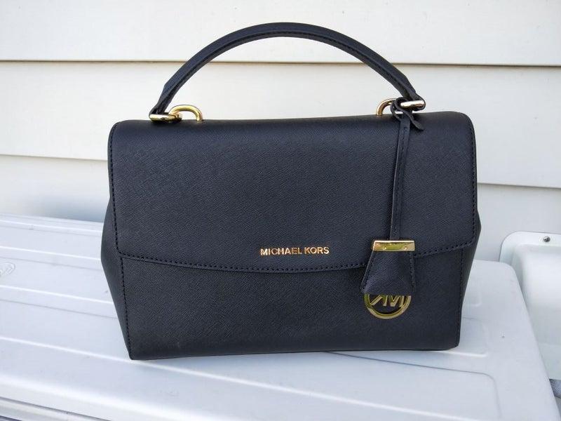 0b864579494d Michaels Kors Ava Medium Saffiano Leather Satchel - Black | Trade Me