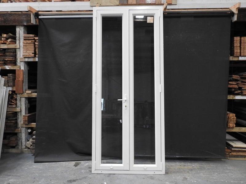 Tall Skinny Off White Bone Ali French Doors With Key