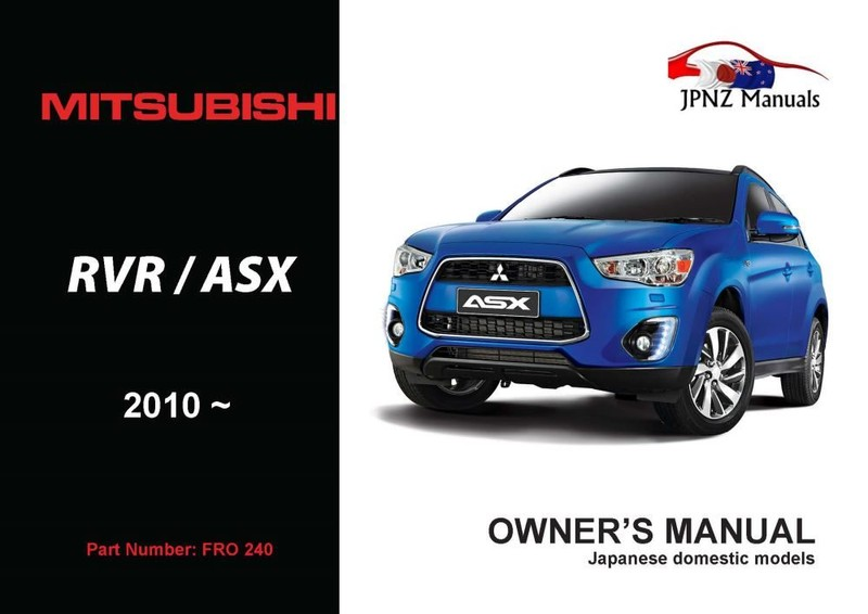 mitsubishi asx manual user book