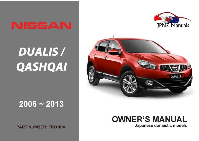 nissan dualis qashqai car owners manual 2006 2013 j10 rh trademe co nz 2013 Nissan Qashqai Interior nissan qashqai 2013 owners manual pdf